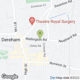 Map of 1 Call Partfinder UK in Dereham, norfolk