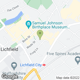 Map of Tourist Information Centre in Lichfield, staffordshire