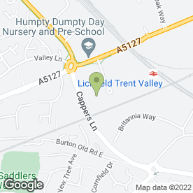 Map of T Turner Autos Ltd in Lichfield, staffordshire