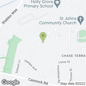 Map of Three Spires Preservation Co in Chase Terrace, Burntwood, staffordshire