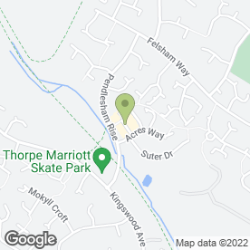 Map of Gianna Zagni Hair & Beauty in Thorpe Marriott, Norwich, norfolk