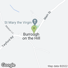 Map of Grant Free House in Burrough On The Hill, Melton Mowbray, leicestershire