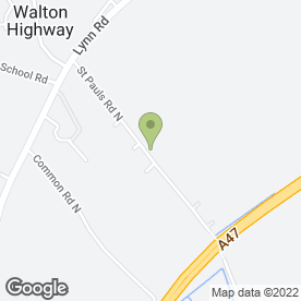 Map of CV Garden Services in Walton Highway, Wisbech, cambridgeshire