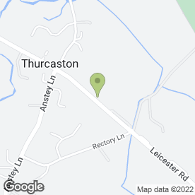 Map of RJD air conditioning services Ltd in Thurcaston, Leicester, leicestershire