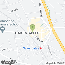 Map of Greggs in Oakengates, Telford, shropshire