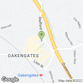 Map of OAKENGATES CARPET CO in Oakengates, Telford, shropshire