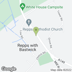 Map of Repps Garage Services in Repps With Bastwick, Great Yarmouth, norfolk