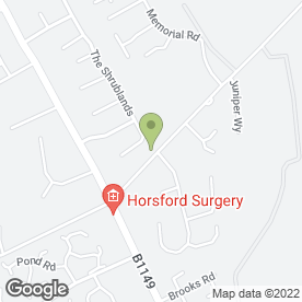 Map of Horsford Junior School in Horsford, Norwich, norfolk