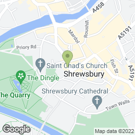 Map of Open All Flowers in Shrewsbury, shropshire