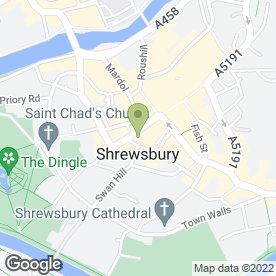Map of Local in Shrewsbury, shropshire