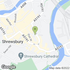 Map of Severn Brides in Shrewsbury, shropshire