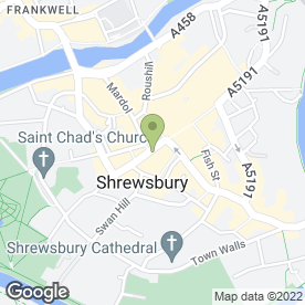 Map of NatWest Bank plc in Shrewsbury, shropshire