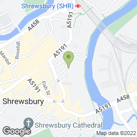 Map of Wedding World in Shrewsbury, shropshire