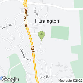 Map of M & D Plastering in Huntington, Cannock, staffordshire