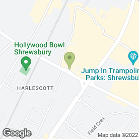 Map of Lloyds Bank in Harlescott, Shrewsbury, shropshire