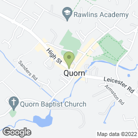 Map of Quorndon Formal Hire in Quorn, Loughborough, leicestershire