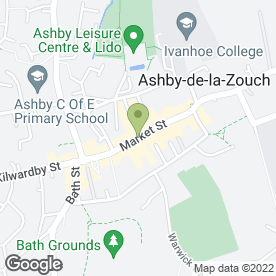 Map of Verity's Nail Creations & Beauty in Ashby-De-La-Zouch, leicestershire
