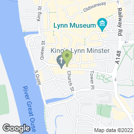Map of PizzaExpress in King's Lynn, norfolk
