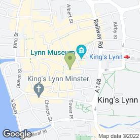 Map of Violets in King's Lynn, norfolk