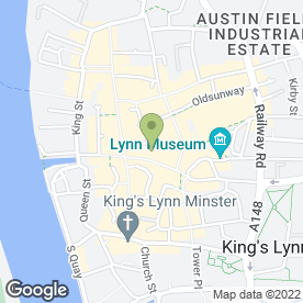Map of Johnson Cleaners in King's Lynn, norfolk