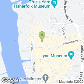 Map of Greggs in King's Lynn, norfolk