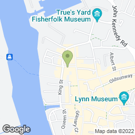 Map of The Gourmet Plaza Restaurant in King's Lynn, norfolk