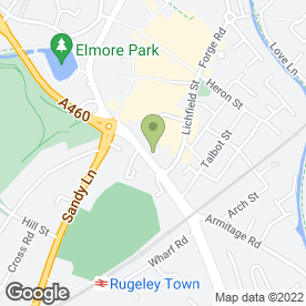 Map of D.G Electrical in Rugeley, staffordshire