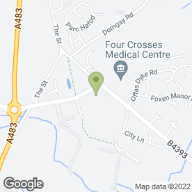 Map of Specials for Wood Turning Ltd in Four Crosses, Llanymynech, powys