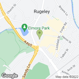 Map of C Residential in Staffordshire, Rugeley, staffordshire