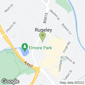 Map of CHANNINGS SKINCARE & NATURAL THERAPIES in Rugeley, staffordshire
