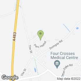 Map of Pivotal Developments in Four Crosses, Llanymynech, powys
