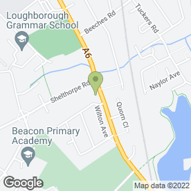 Map of Loughborough Crematorium in Loughborough, leicestershire