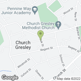 Map of ALLCATS LUXURY CATTERY in Church Gresley, Swadlincote, derbyshire