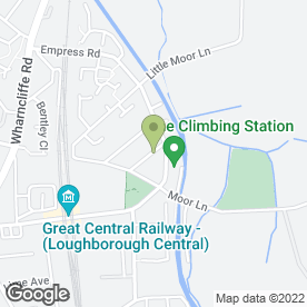 Map of Charnwood Removals in Loughborough, leicestershire