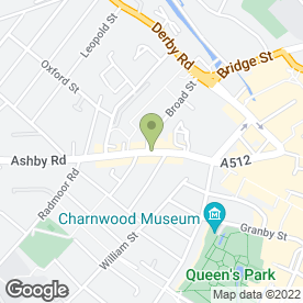 Map of Apple Language Courses Ltd in Loughborough, leicestershire