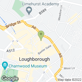 Map of David Austen Optometry in Loughborough, leicestershire