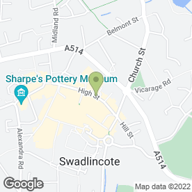 Map of HAIRS & GRACES in Swadlincote, derbyshire