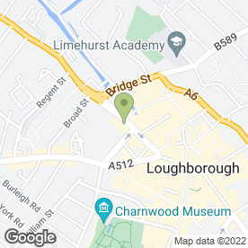 Map of Munchies Food Bar in Loughborough, leicestershire