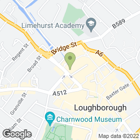 Map of Swan Street Social in Loughborough, leicestershire
