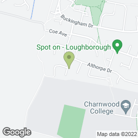 Map of JPJ Joinery in Loughborough, leicestershire