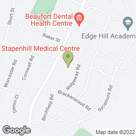 Map of Stapenhill Medical Centre in Burton-On-Trent, staffordshire