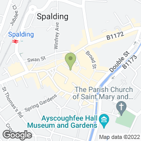 Map of Nationwide Building Society in Spalding, lincolnshire