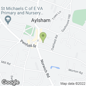 Map of VISAGE BEAUTY CLINIC in Aylsham, Norwich, norfolk