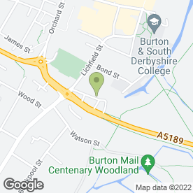 Map of National Tyres and Autocare in Burton-On-Trent, staffordshire