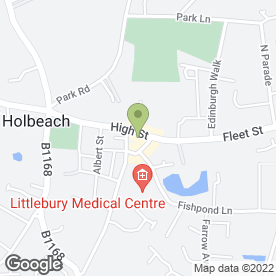 Map of A1 Property Rentals Ltd in Holbeach, Spalding, lincolnshire