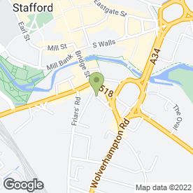 Map of J & S Seddon Building Ltd in Stafford, staffordshire