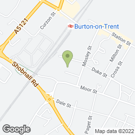 Map of J & B Insulations Ltd in Burton-On-Trent, staffordshire