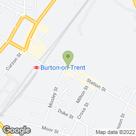Map of Me & Mrs Jones (Wedding Co) Ltd in Burton-On-Trent, staffordshire