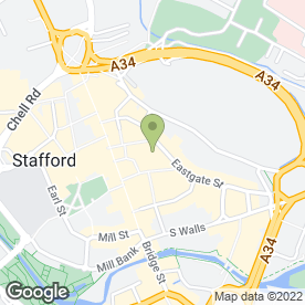 Map of The Stafford Gatehouse Theatre in Stafford, staffordshire