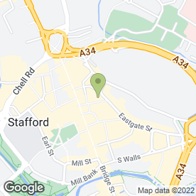 Map of Nicolsons in Stafford, staffordshire